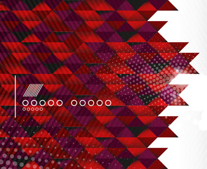 Business geometric shape background - triangles