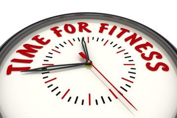 Time for fitness (Время для фитнеса). Часы с надписью