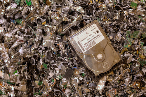 Crushed hard drives - 58828168