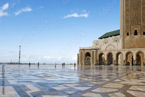 canvas print picture Hassan II in Casablanca, Marokko