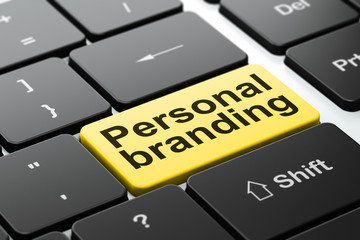 Advertising concept: Personal Branding on computer background