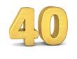 zahl cipher 40 gold vertikal