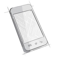 Vector Sketch of Mobile Phone