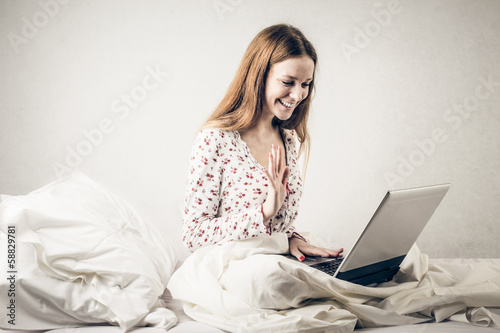 Videochat in Bed