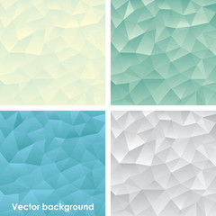 Polygonal background set in water colors