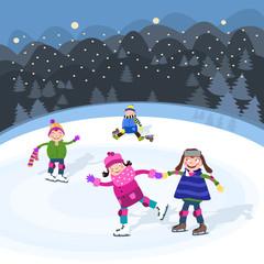 Zabawa na łyżwach