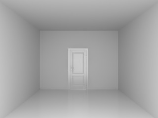 the door in empty room