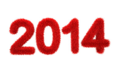 new year 2014 3d furry logo