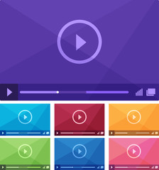 Media player interface. Vector illustration.