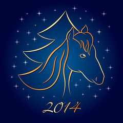 New Year Horse Background