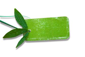 grünes natürliches Karton-Etikett