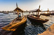 Boats on the Bay Creek in Dubai, UAE - 58832969