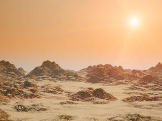 Red alien planet