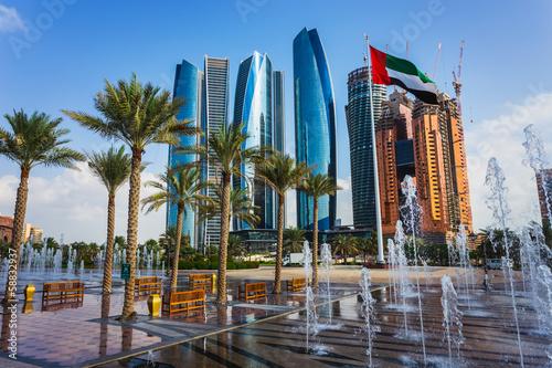 Foto op Canvas Abu Dhabi Skyscrapers in Abu Dhabi, UAE