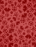 ..Red Christmas symbols on the wall