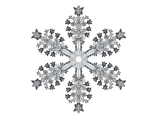 Comics-style  illustration of a snowflake