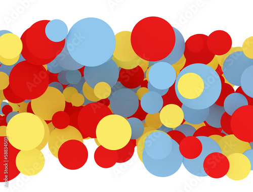 multi color circles isolated on white background