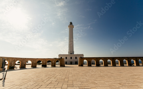 Lighthouse of Santa Maria di Leuca in Italy.
