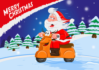 MERRY CHRISTMAS motorcycle