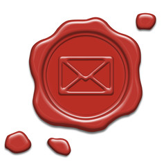 Wax seal with mail-symbol