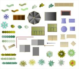 Symbole für die Gartengestaltung
