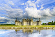 Chateau de Chambord, Unesco castle and reflection. Loire, France