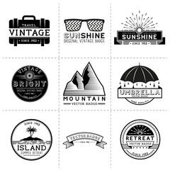 Vintage Travel Labels