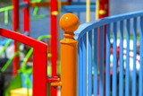 Multi colored fence