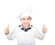 Giovane cuoco contento