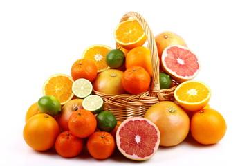 Mandarini,lime,arance e pompelmo rosa