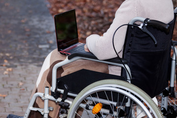 Disabled use computer