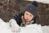 Boy stuck in snow