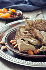 Halva with almonds