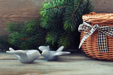 Christmas decoration in shape of birds