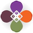Vector color background concept design for brochure or website