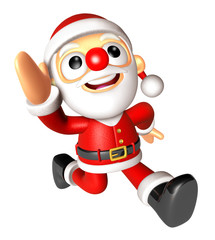 3D Santa character on Running to be strong