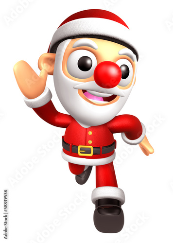 3D Santa character on Running