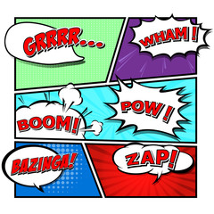 comic speech bubbles,Vector Illustration