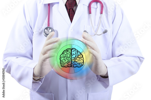 Medical doctor checking your business brain
