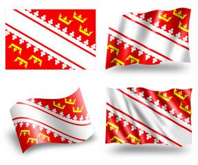 Flag of Alsace Region