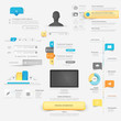 Collection of website navigation Infographic elements with icons