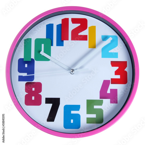 funny wall round clocks isolated on white
