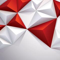 Red geometric background. © tarapong