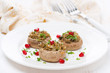 Stuffed mushrooms with herbs and pomegranate