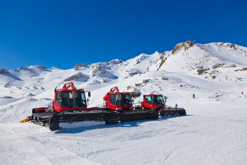 Machines for skiing slope preparations at Bad Hofgastein - Austr