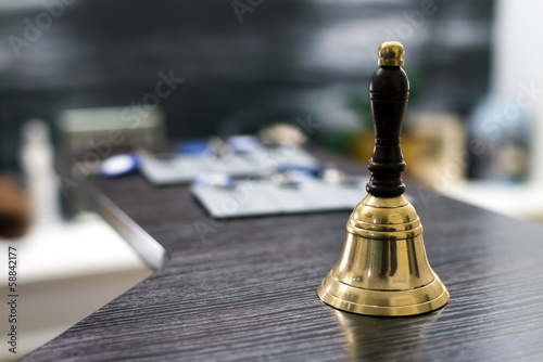 Bell on reception desk
