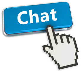 Chat button wiht hand cursor