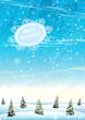 Christmas winter landscape.
