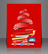 Vector Christmas Flyer Magazine Cover & Poster Template