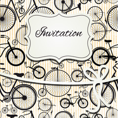 Hipster invitation card in vintage style